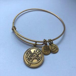 Alex and Ani New York Yankees Charm Bracelet- Gold
